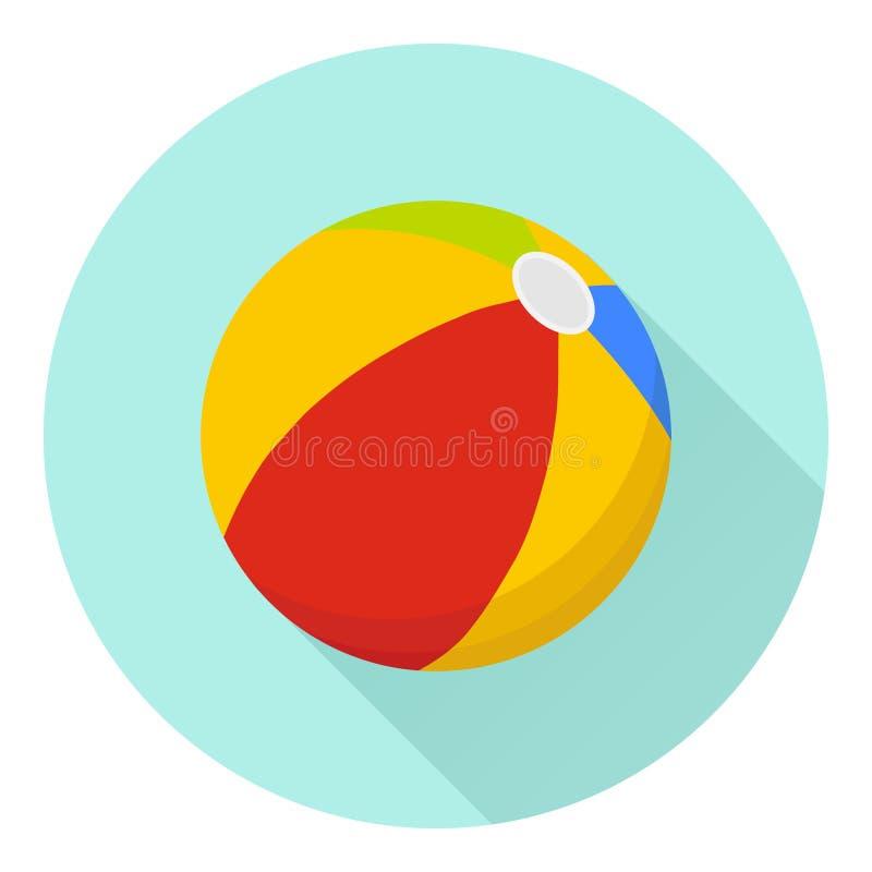 Pelota de playa ilustración del vector