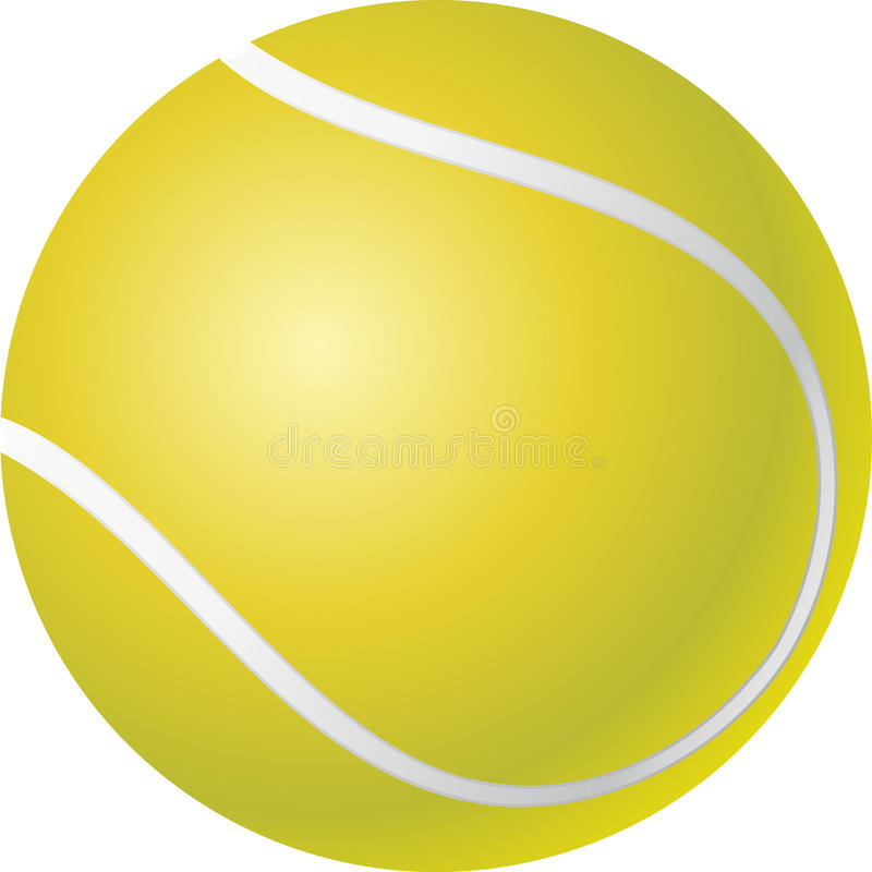 Pelota de tenis stock de ilustración