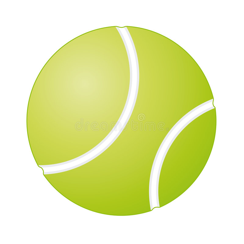 Pelota de tenis libre illustration