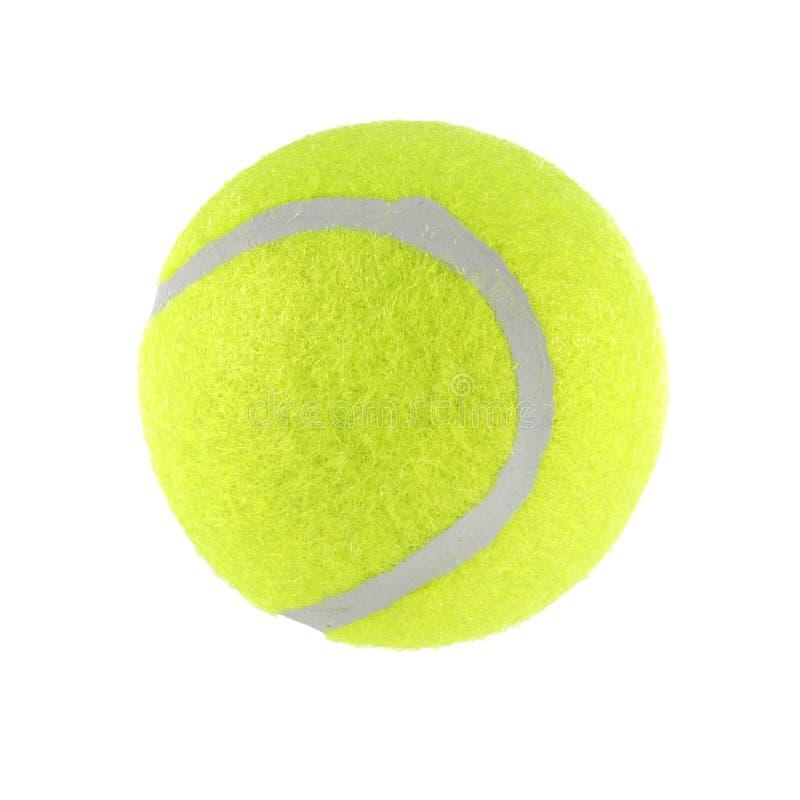 Pelota de tenis aislada en el fondo blanco con la trayectoria de recortes imagen de archivo