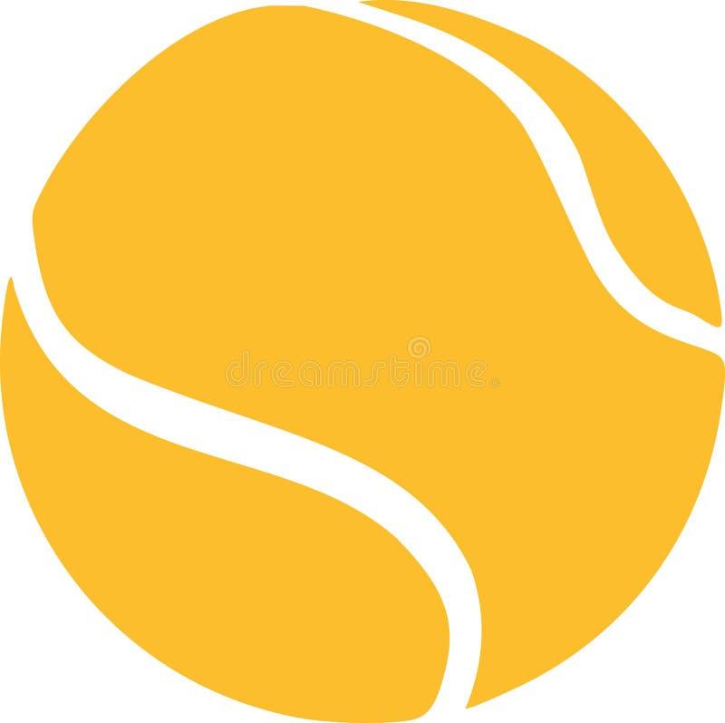 Pelota de tenis amarilla stock de ilustración