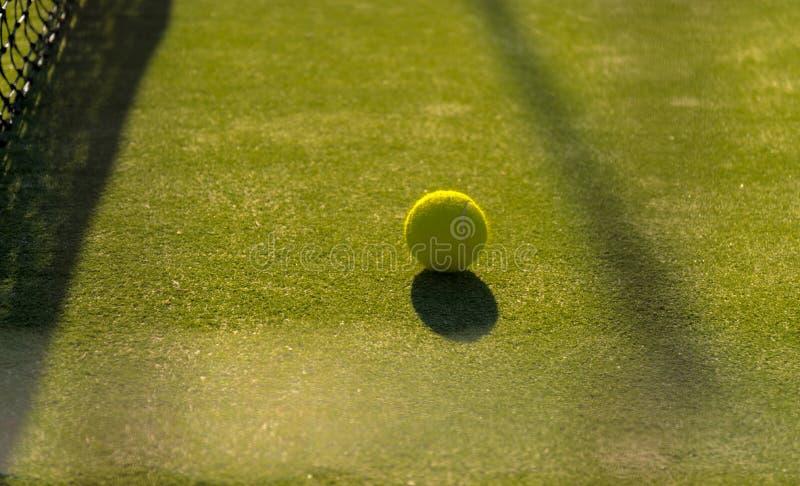 Pelota de tenis cerca del nett imagen de archivo libre de regalías