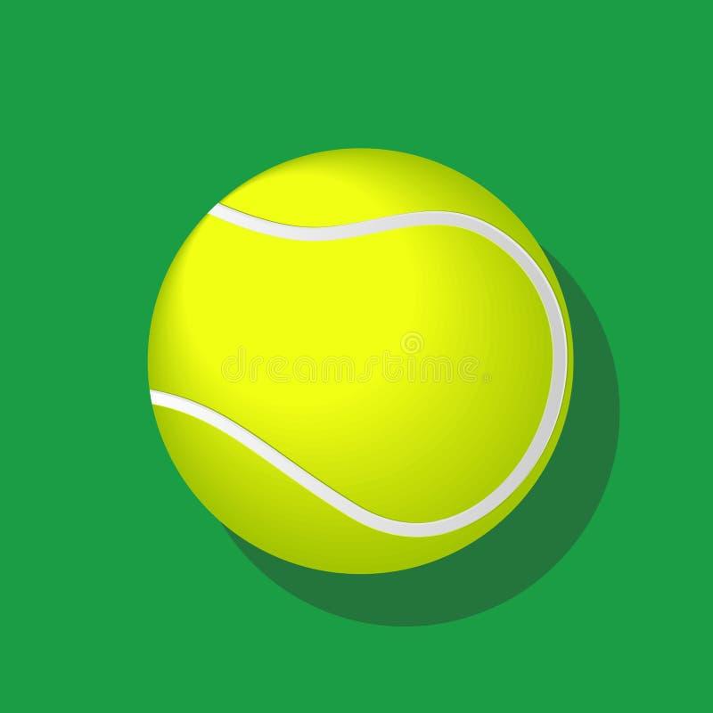 Pelota de tenis con la sombra en el ejemplo blanco del fondo-vector stock de ilustración