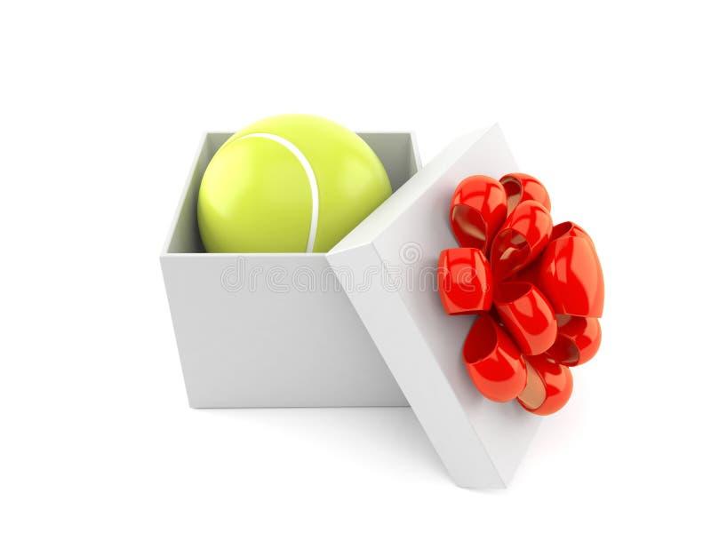 Pelota de tenis dentro del regalo stock de ilustración