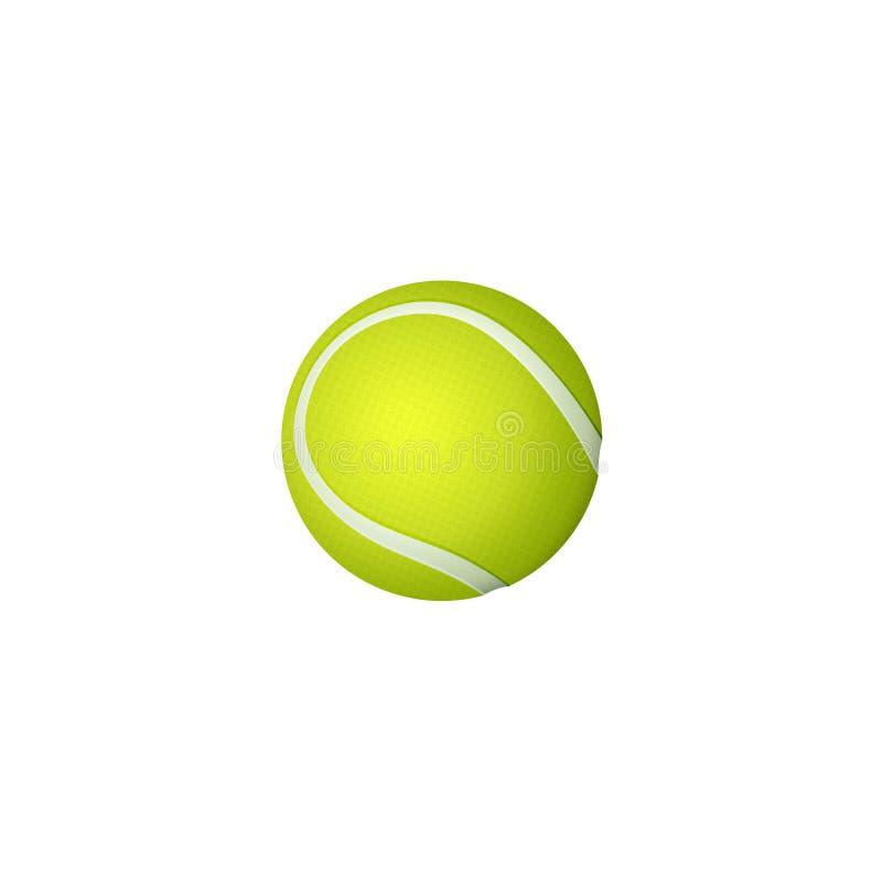Pelota de tenis plana de la historieta del vector aislada libre illustration