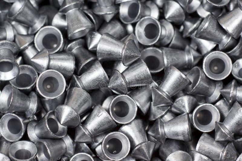Pelotas da pistola pneumática foto de stock