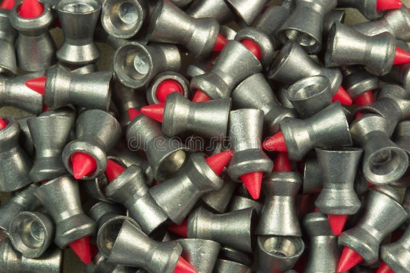 Pelotas da pistola pneumática da ligação fotografia de stock