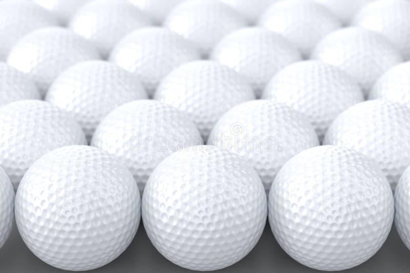 Pelotas de golf ilustración del vector