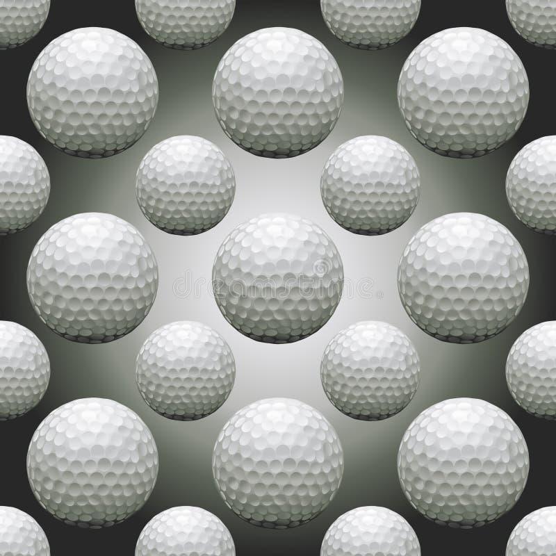 Pelotas de golf inconsútiles ilustración del vector