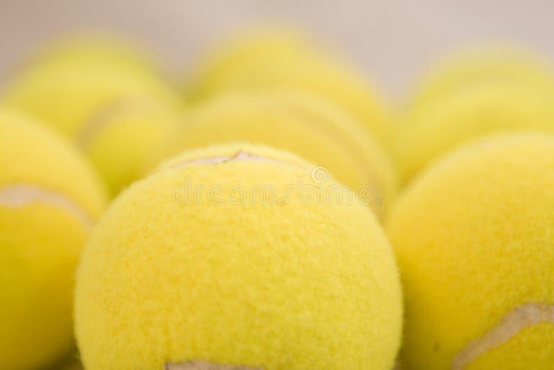 Pelotas de tenis fotografía de archivo