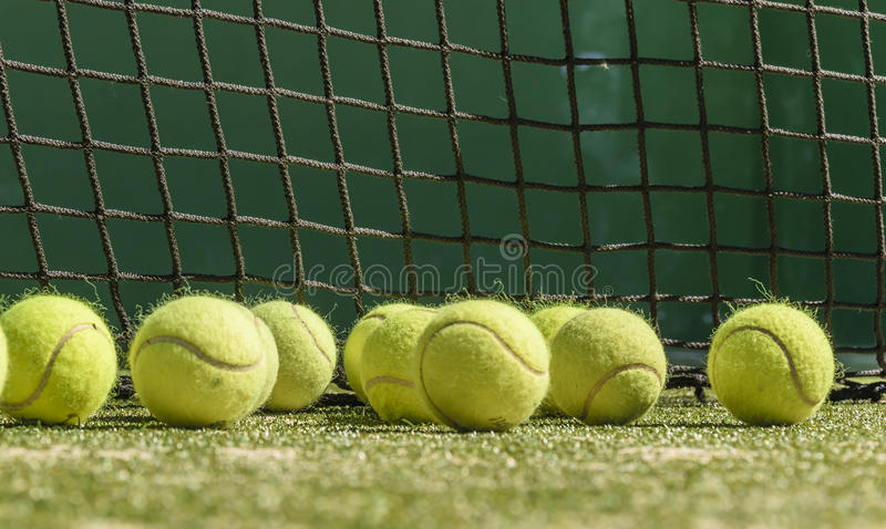 Balls of tennis stock images