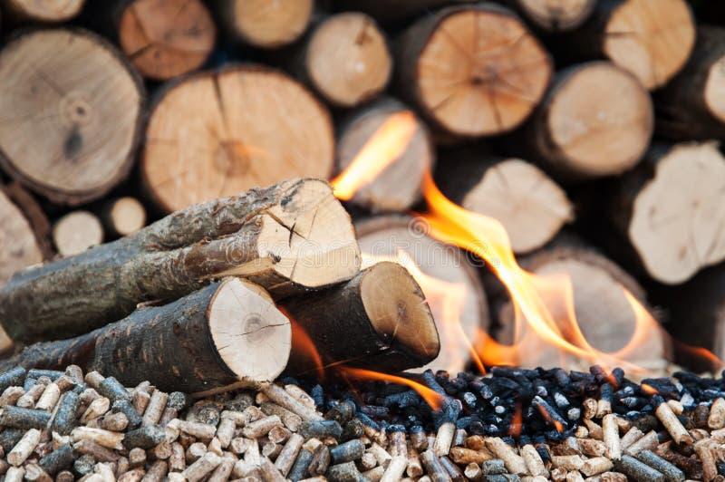 Pelotilla-biomasa imagen de archivo