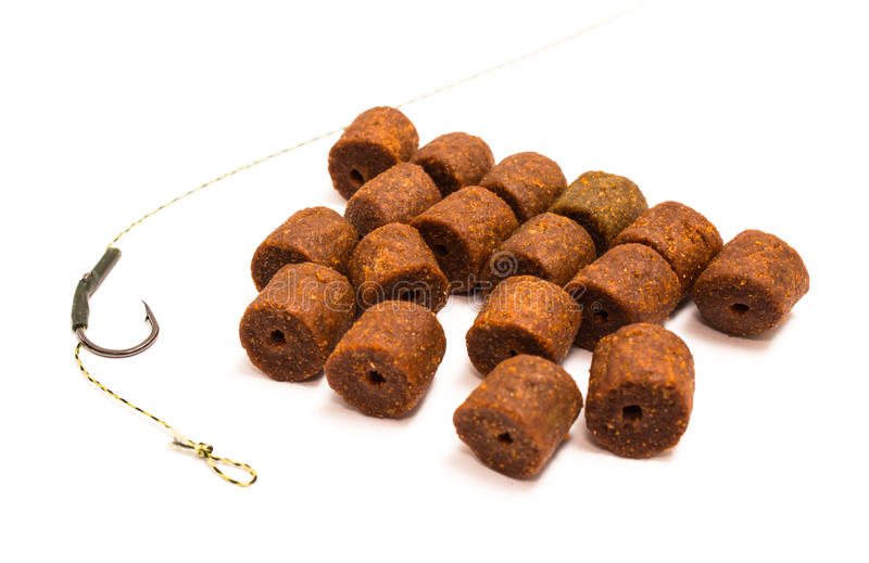 Pelotilla - cebo y accesorios de pesca de la carpa imagen de archivo