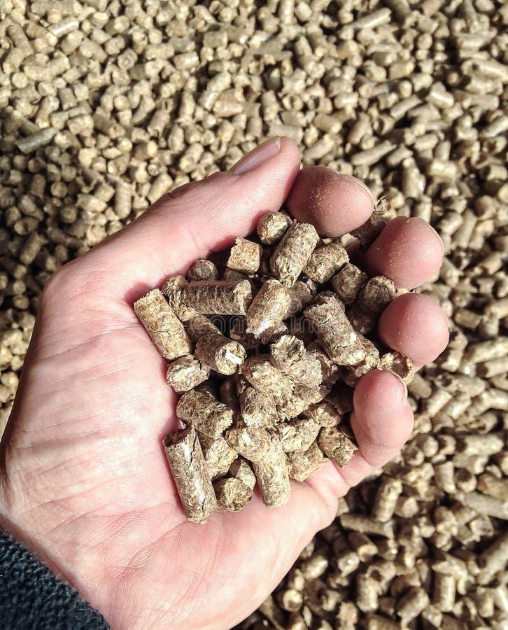 Pelotillas de la biomasa imagen de archivo
