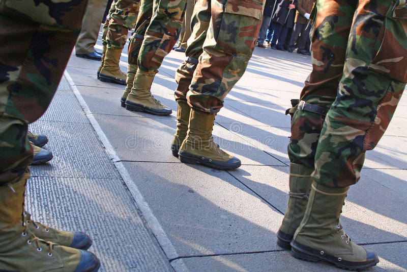 Peloton d'armée photographie stock libre de droits