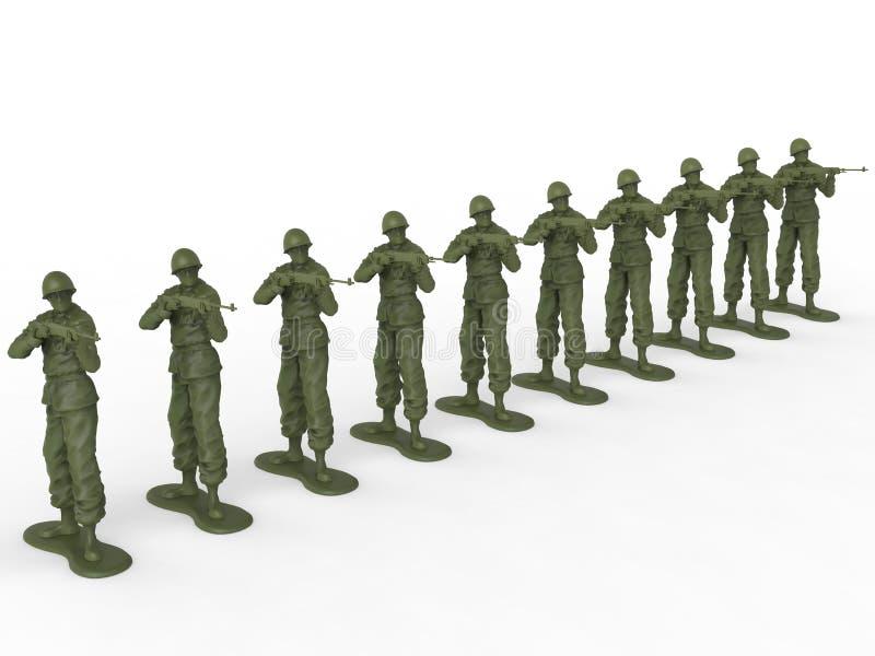 Peloton d'exécution des soldats de jouet photographie stock libre de droits