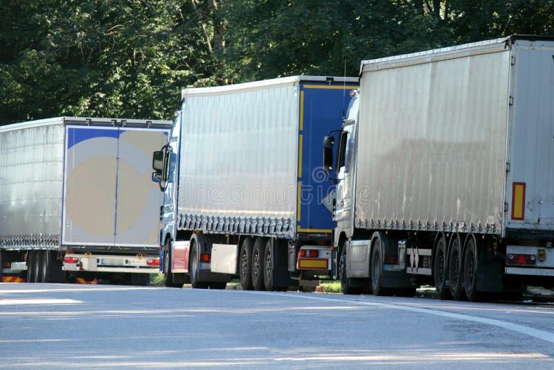 Peloton de camion image libre de droits