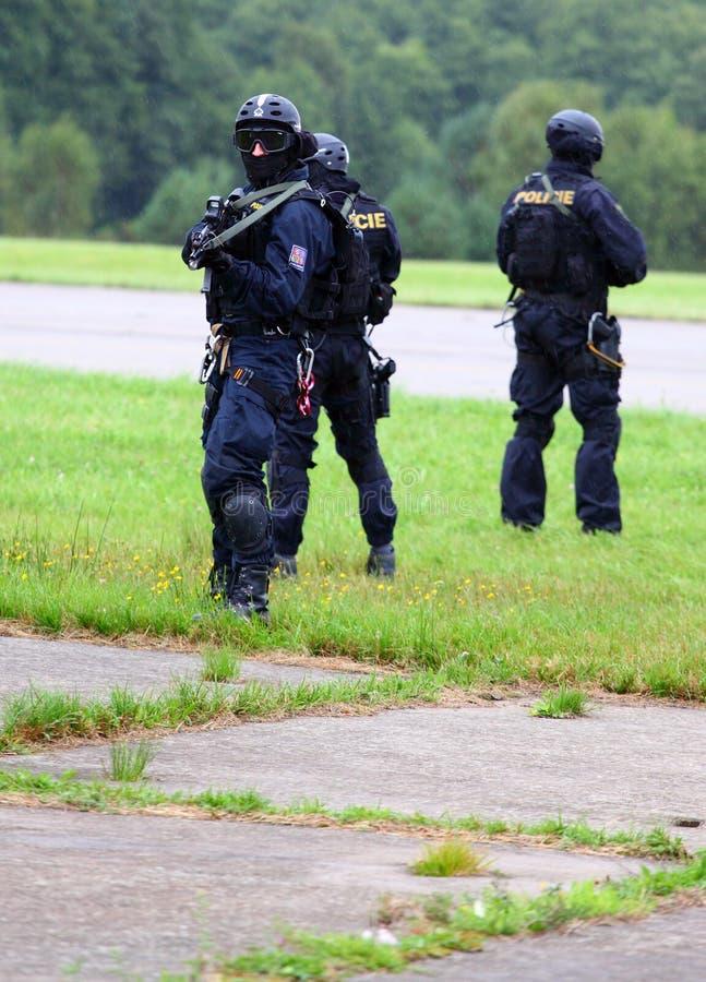 Peloton de police. photographie stock