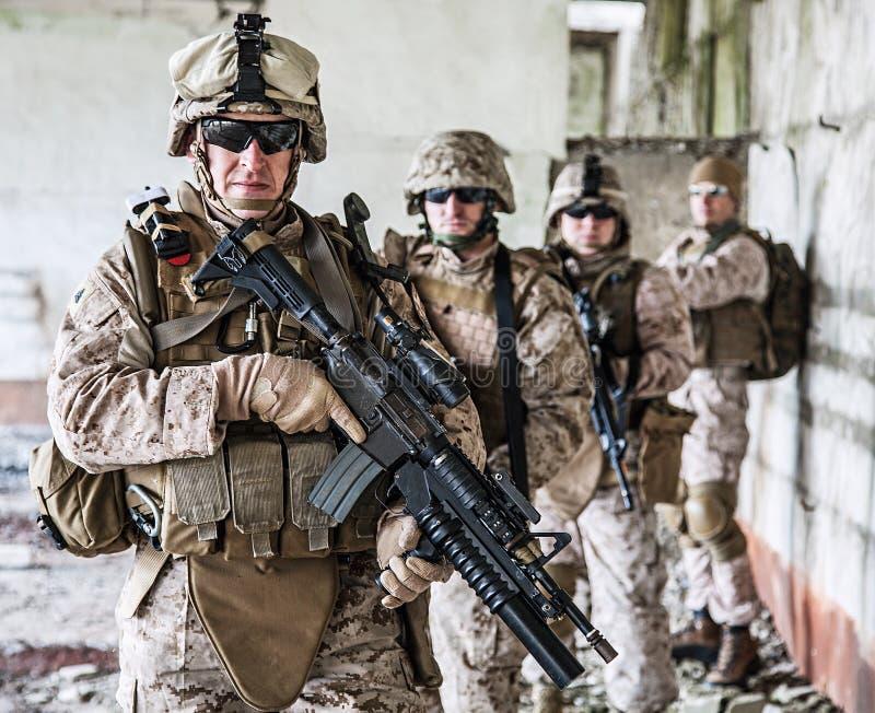 Peloton des marines photo libre de droits