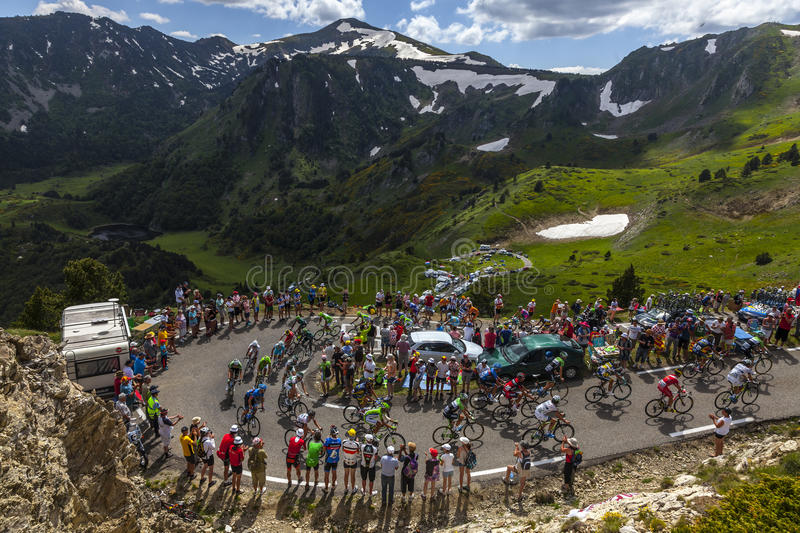 The Peloton In Mountains Editorial Image