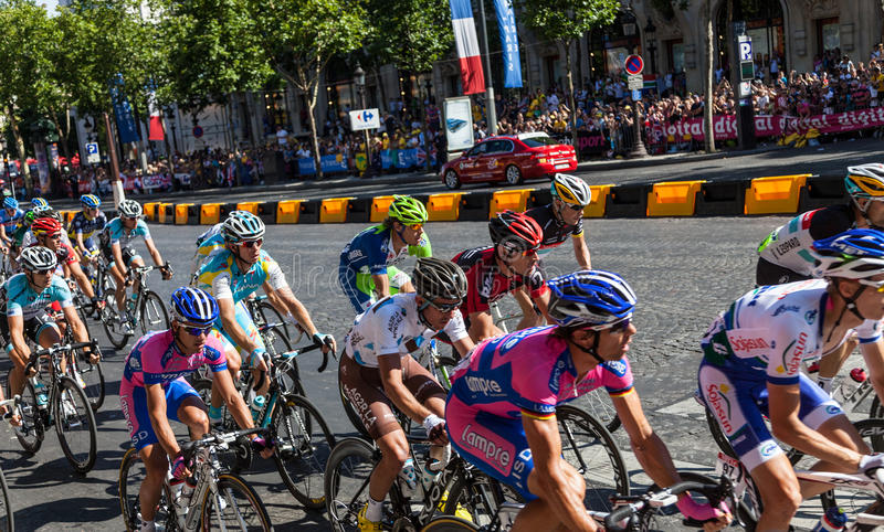 Download The Peloton in Paris editorial stock image. Image of championship - 25834179