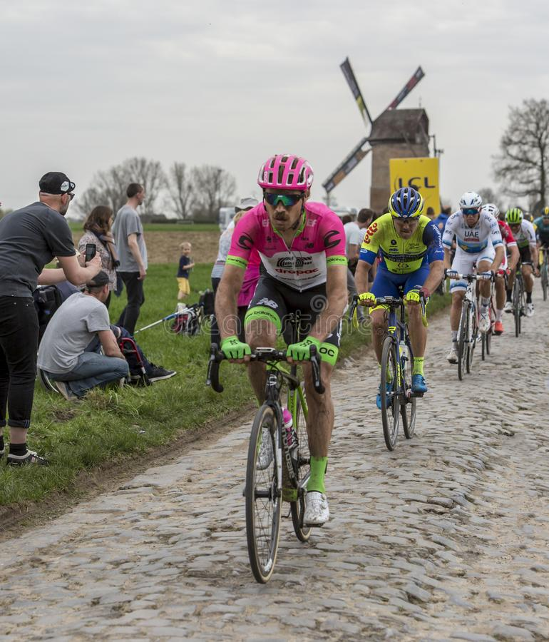 The Peloton - Paris-Roubaix 2018 royalty free stock photo
