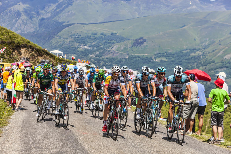 Download The Peloton In Pyrenees Mountains Editorial Photography - Image: 33075507