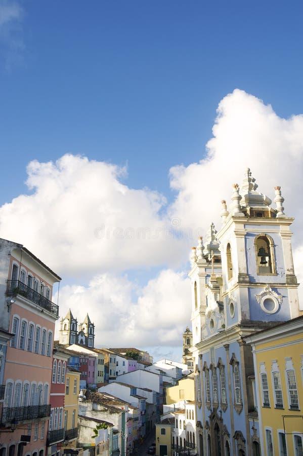 Pelourinho萨尔瓦多巴西的历史的市中心 免版税库存图片
