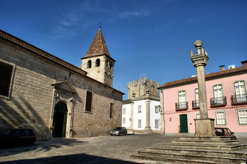 Pelourinho of Chaves. North of Portugal stock photo