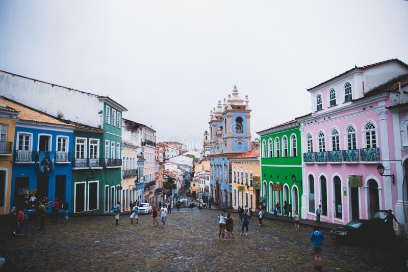 Pelourinho på Salvador, Bahia, Brasilien arkivbild