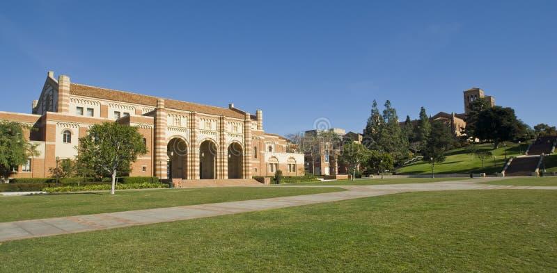 Pelouse de campus universitaire image libre de droits