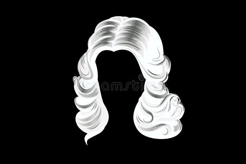 peluca ilustración del vector
