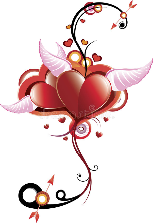 Pelucas del corazón libre illustration