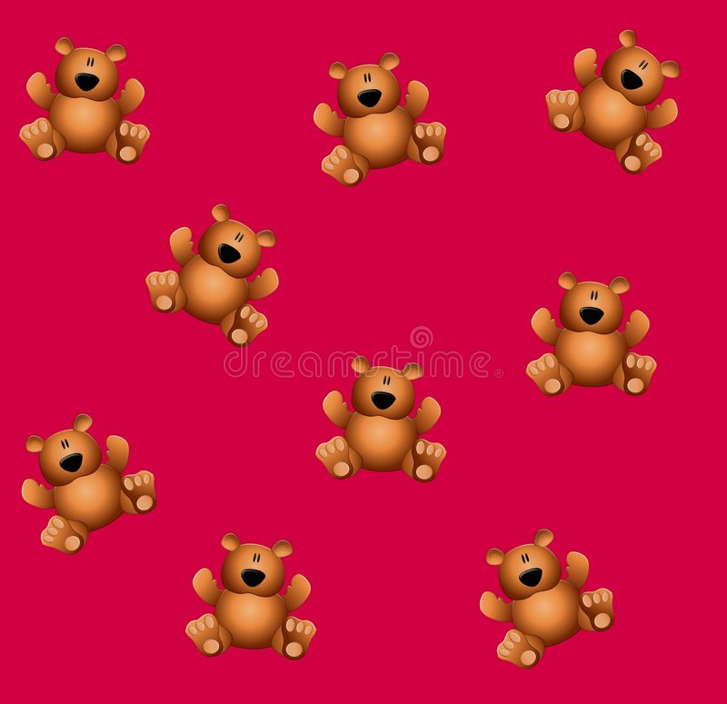 A peluche de Tileable carrega a cor-de-rosa ilustração stock