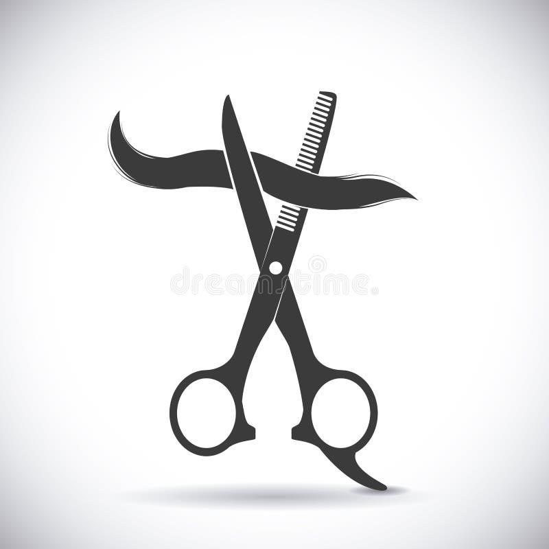 peluquería ilustración del vector