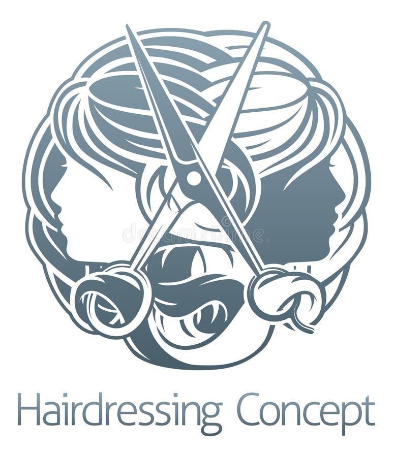 Peluquero Concept del salón de pelo del estilista libre illustration