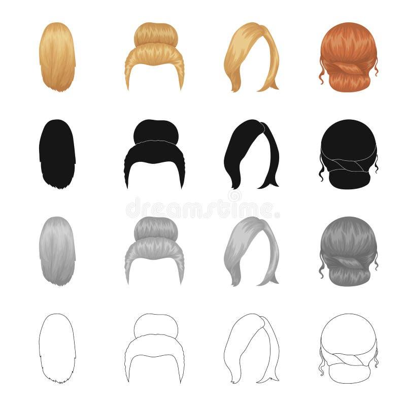Peluquero de la peluca ilustración del vector
