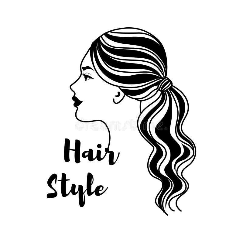 Peluquero Hair Vector ilustración del vector