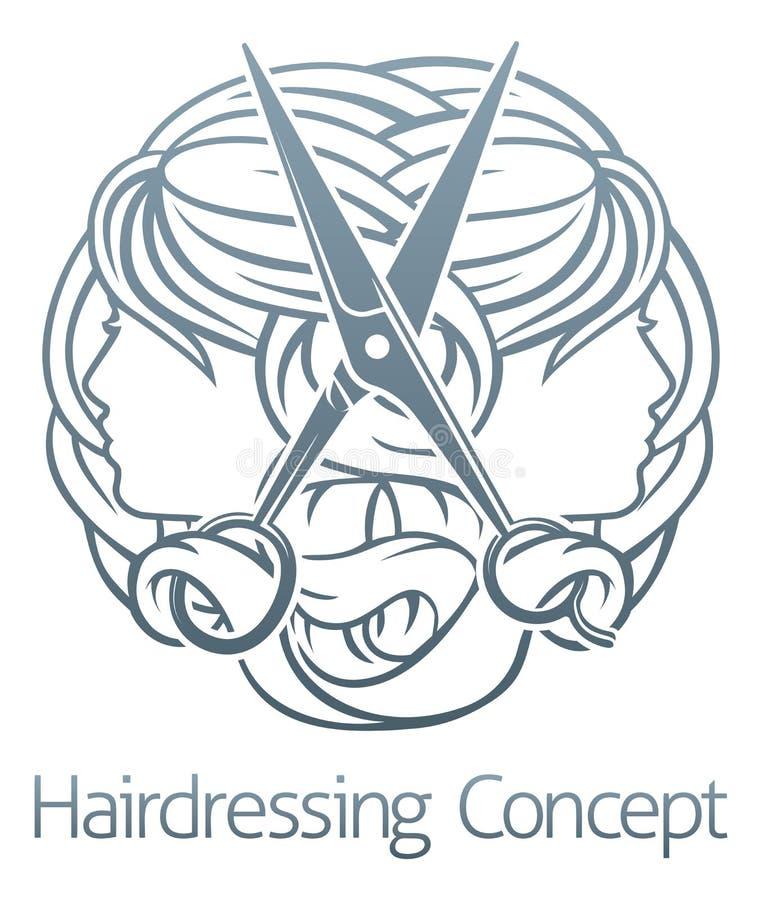 Peluquero Icon del salón de pelo del estilista libre illustration