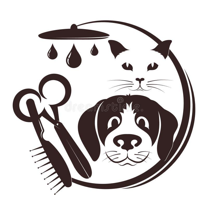 Peluquero para los animales domésticos ilustración del vector