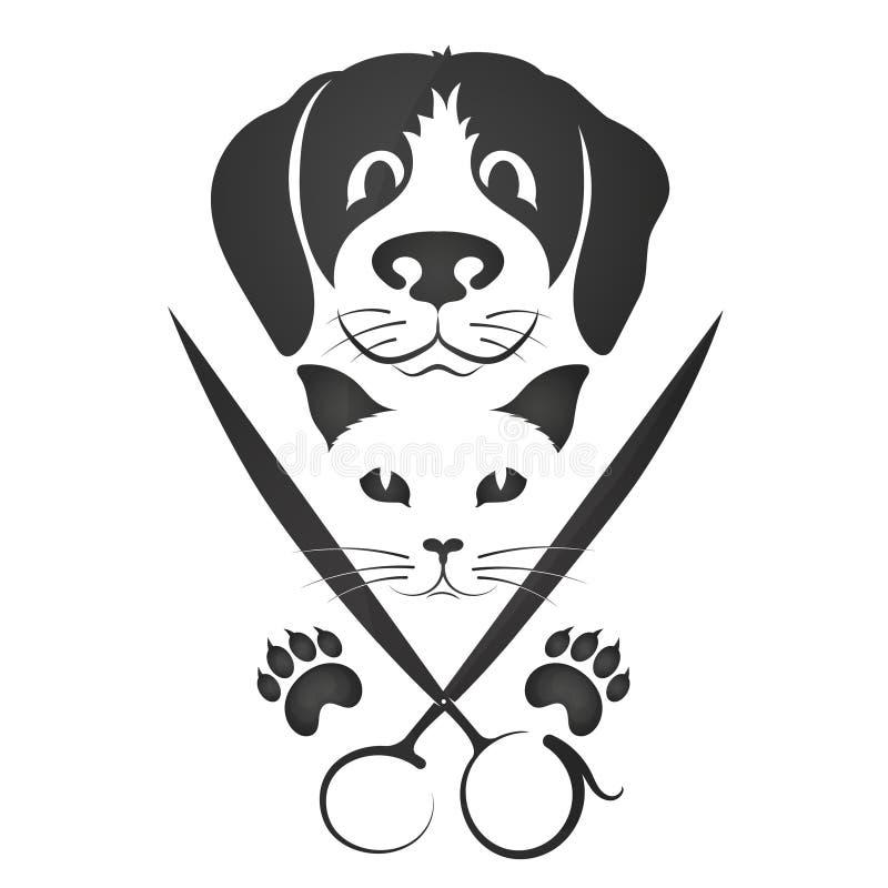Peluquero para los gatos y los perros ilustración del vector