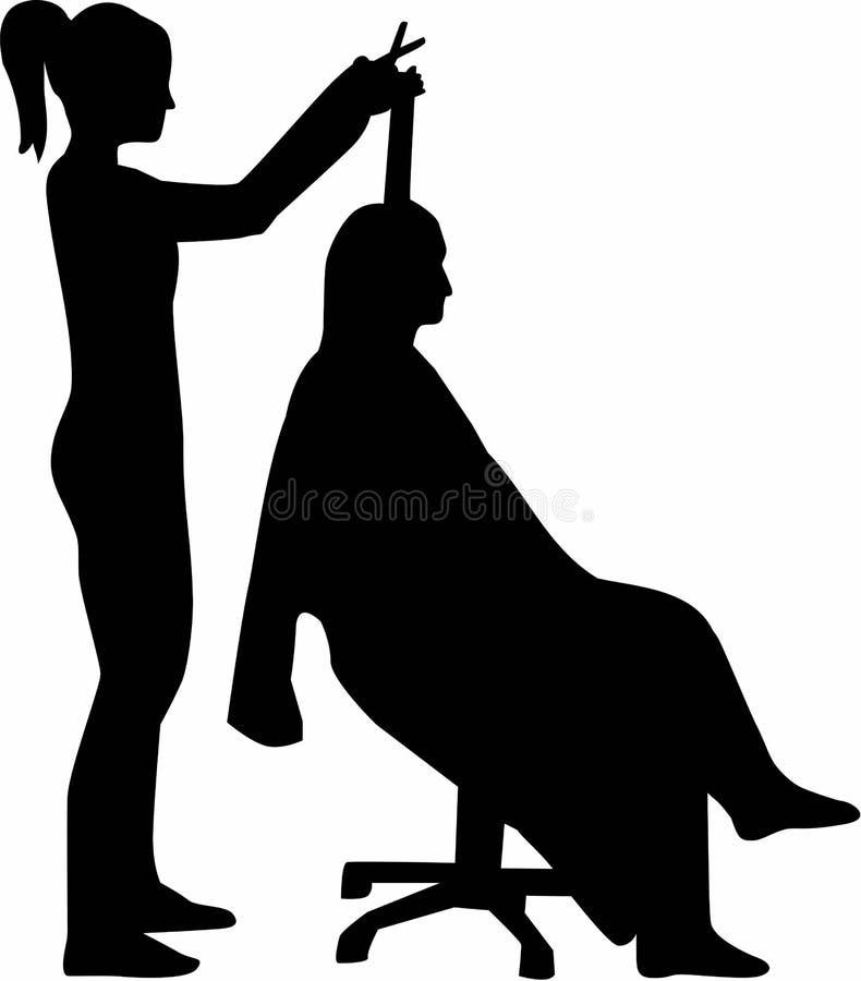 Peluquero Silhouette Haircutter ilustración del vector