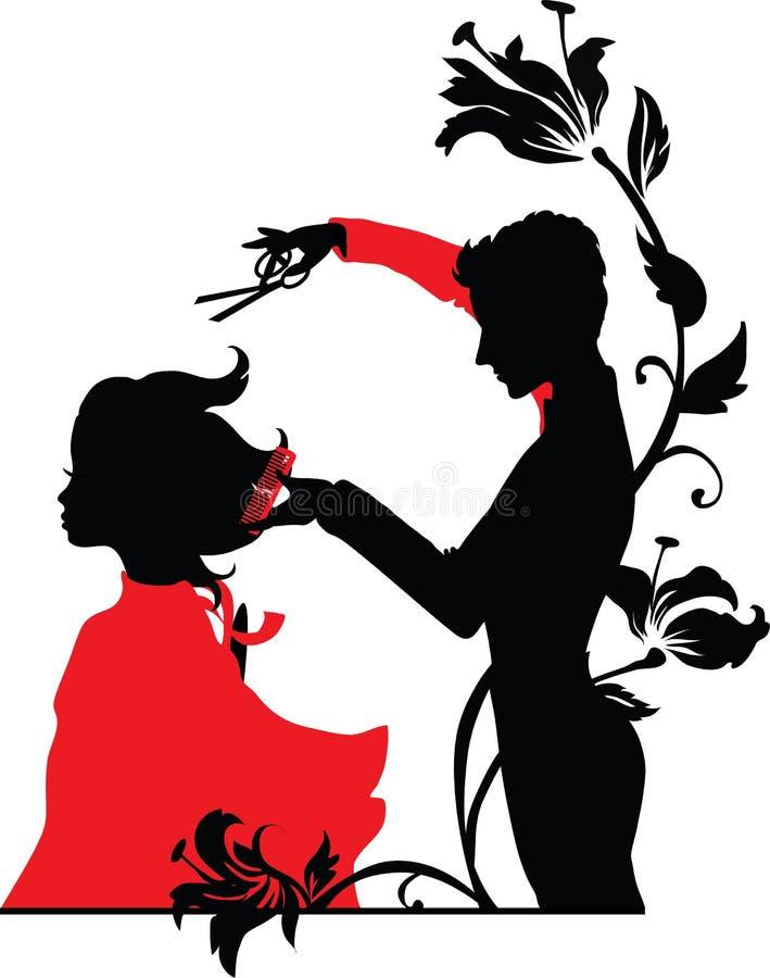 Peluquero y una muchacha libre illustration