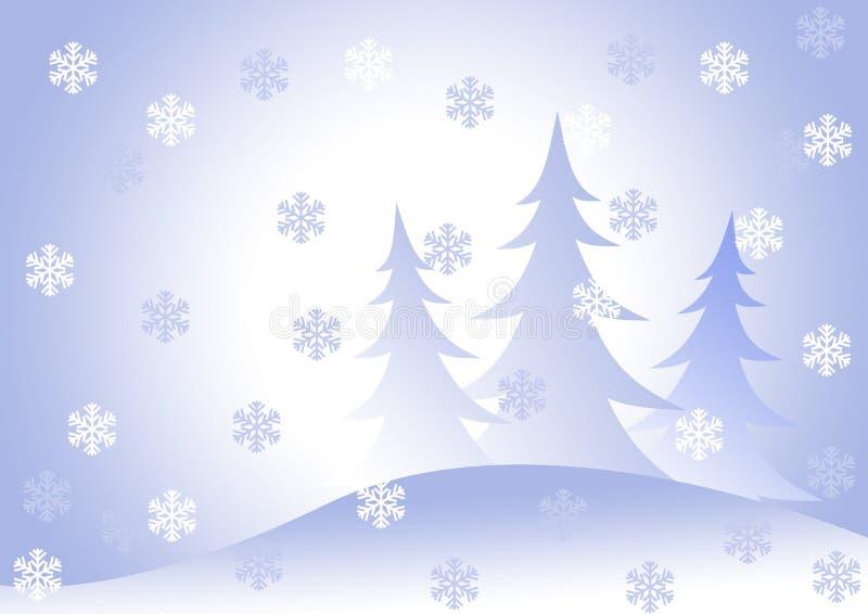 Pelz-Bäume unter Schneefälle. lizenzfreies stockbild
