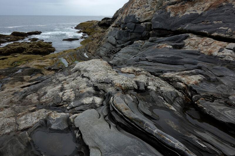 Pemaquid point rocks. stock photography