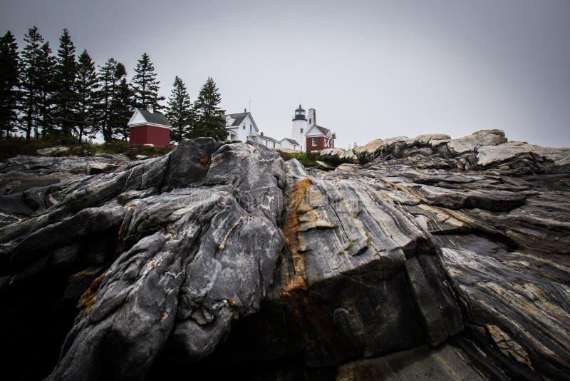 Pemaquid punktljus - Maine Lighthouse royaltyfri foto