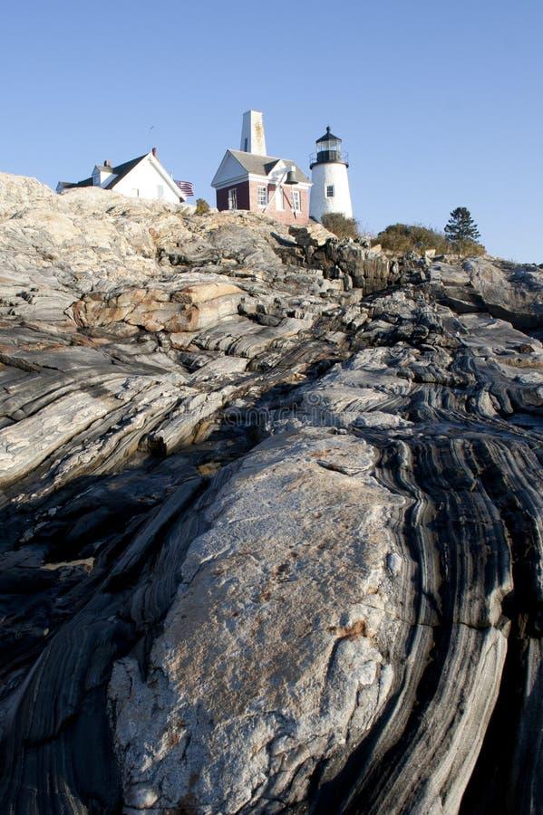 Pemaquid punktu latarnia morska Maine obrazy royalty free