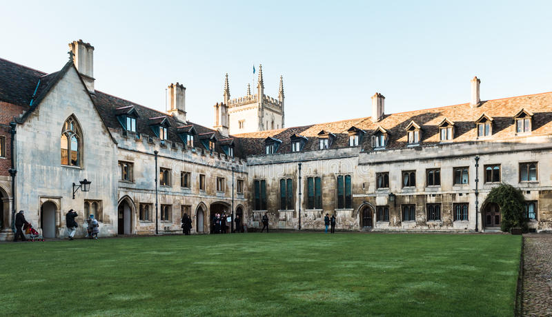 Pembroke College à Cambridge, Angleterre image stock