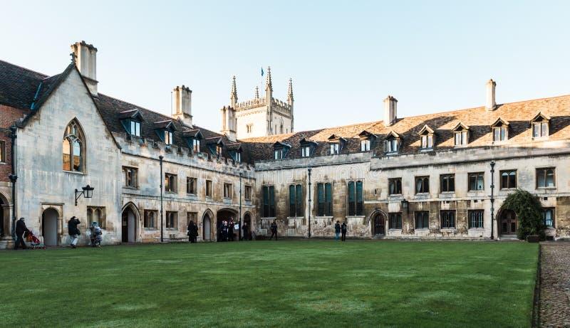 Pembroke College in Cambridge, England. stock image