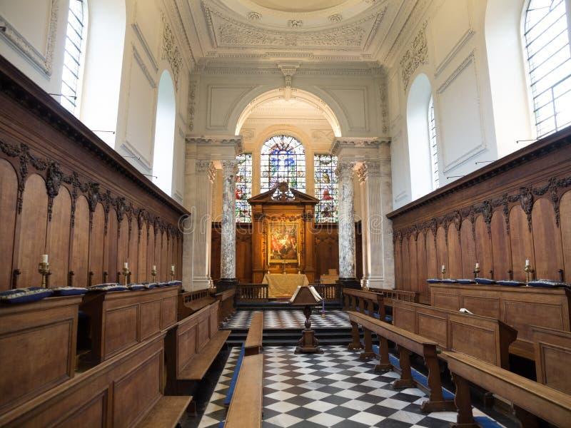 Pembroke College Chapel Cambridge idoso imagem de stock royalty free